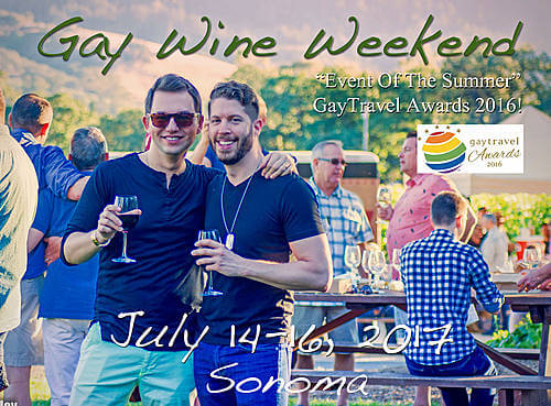 Gay Wine Weekend – 14 to 16 July 2017